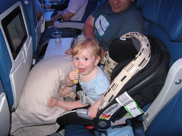 Can A  Year Old Fly Without Car Seat