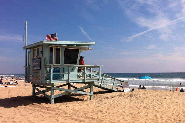 Lifeguard booth, Santa Monica, California